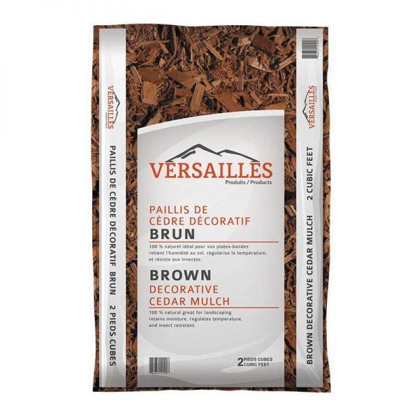 paillis de cedre couleur brun VERSAILLES