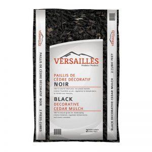 paillis de cedre couleur noir VERSAILLES
