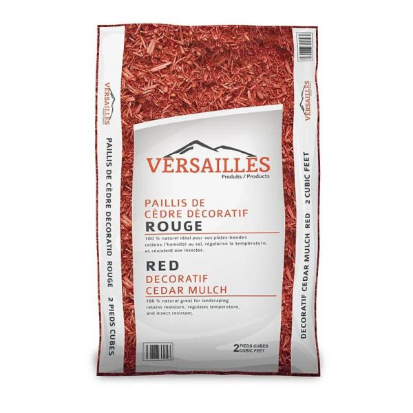 paillis de cedre couleur rouge VERSAILLES