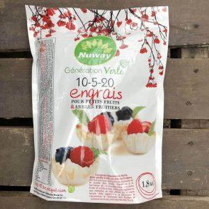 Engrais petits fruits et arbres fruitiers