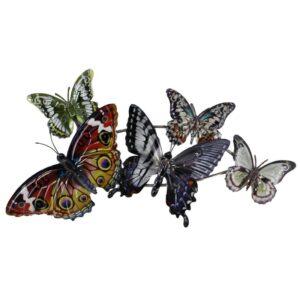Décoration murale papillons en métal