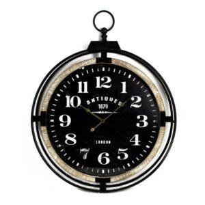 Horloge noire style montre de poche