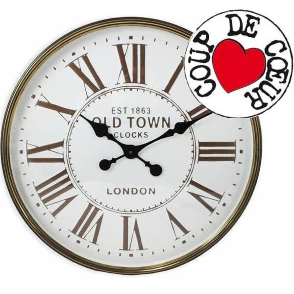 Horloge en métal blanc