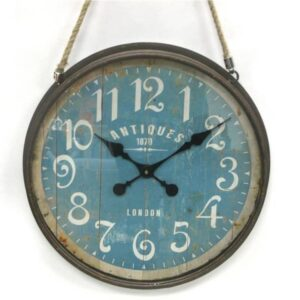 Horloge bleu antique