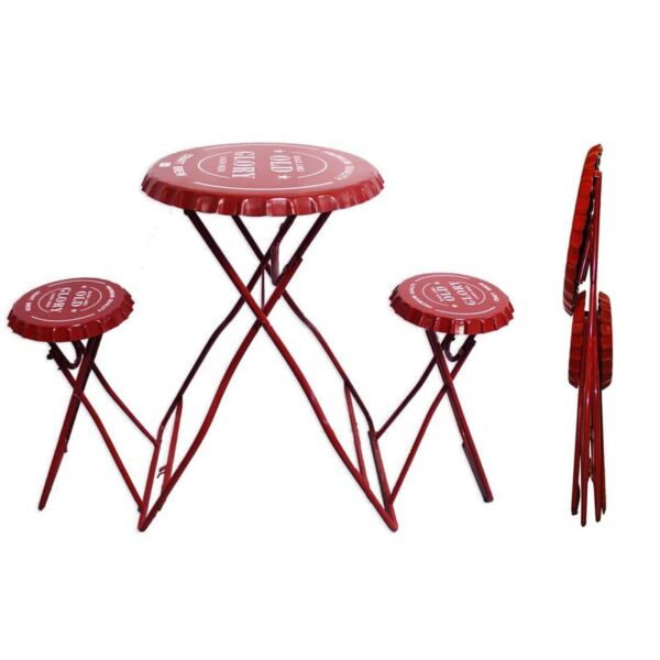 Ensemble de table et chaises bouchon de bouteilles