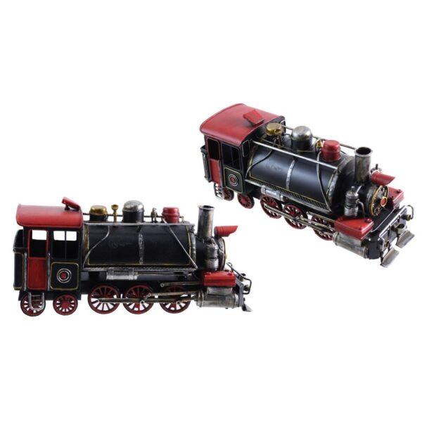 Locomotive rouge et noire antique