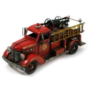Camion en métal rouge antique